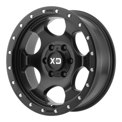 Roue XD Series by KMC Wheels RG1, noir satine (17X9, 8x170, 125.5, déport -12)