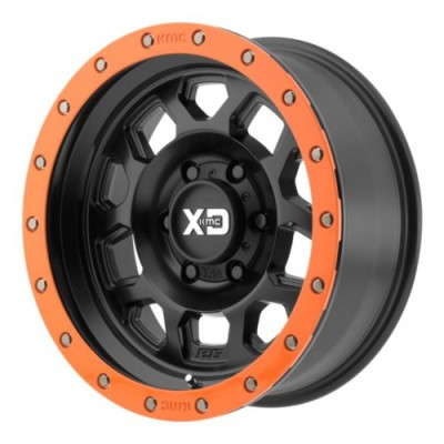 Roue XD Series by KMC Wheels RG2, noir satine (17X8, 5x114.3, 72.6, déport 25)