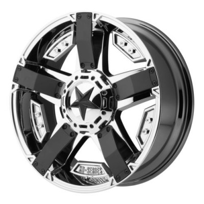Roue XD Series by KMC Wheels RS2, noir chrome mat (20X9, 5x114.3/120.65, 72.6, déport -12)