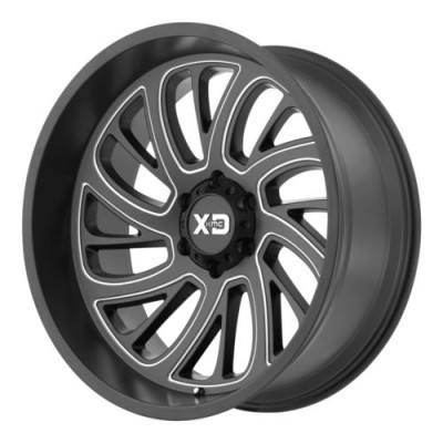 Roue XD Series by KMC Wheels SURGE, noir machine (22X12, 8x180, 124.2, déport -44)