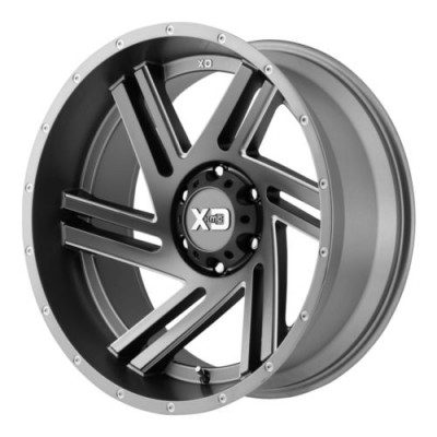 Roue XD Series by KMC Wheels SWIPE, gris machine (18X9, 6x139.7, 106.25, déport 18)