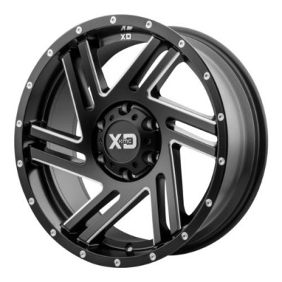 Roue XD Series by KMC Wheels SWIPE, noir machine (17X9, 5x127, 72.6, déport -12)