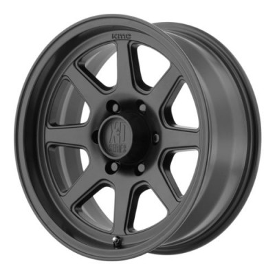 Roue XD Series by KMC Wheels TURBINE, noir satine (17X8.5, 6x135, 87.1, déport -6)