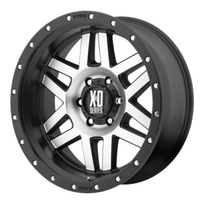 Roue XD Series by KMC Wheels XD128 MACHETE, noir machine (17X9, 5x127, 78.30, déport -12)