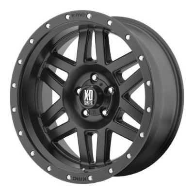 Roue XD Series by KMC Wheels XD128 MACHETE, noir satine (17X9, 5x150, 110.50, déport 18)