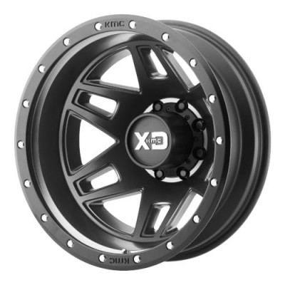 Roue XD Series by KMC Wheels XD130 MACHETE DUALLY, noir satine (20X8.25, 8x165.1, 117.00, déport 127)