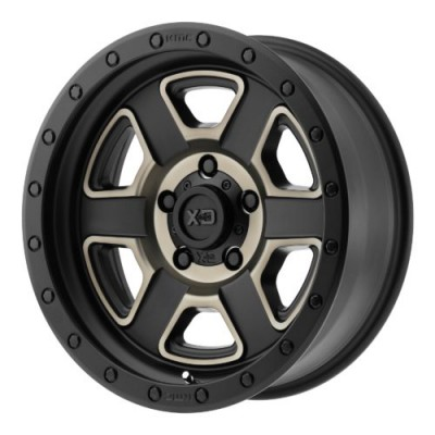Roue XD Series by KMC Wheels XD133 FUSION OFF-ROAD, noir machine (17X9, 5x127, 72.60, déport -12)
