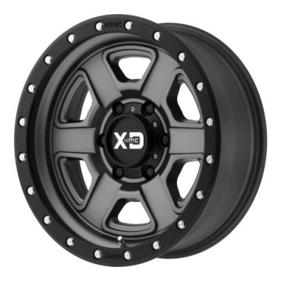 Roue XD Series by KMC Wheels XD133 FUSION OFF-ROAD, noir satine (17X9, 8x165.1, 125.50, déport -12)