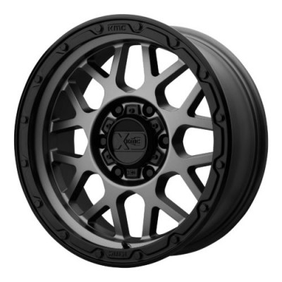 Roue XD Series by KMC Wheels XD135 GRENADE OR, gris gunmetal mat (17X9, 6x114.3, 66.10, déport 18)