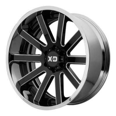 Roue XD Series by KMC Wheels XD200 HEIST, noir lustre machine (20X10, 6x139.7, 106.25, déport -18)