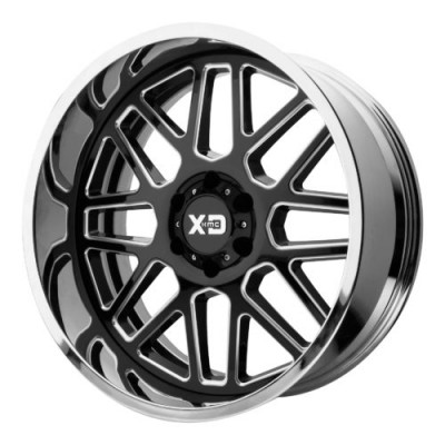 Roue XD Series by KMC Wheels XD201 GRENADE, noir lustre machine (20X10, 5x127, 72.60, déport -18)