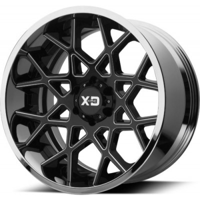 Roue XD Series by KMC Wheels XD203 CHOPSTIX, noir lustre machine (20X10, 5x127, 72.60, déport -18)