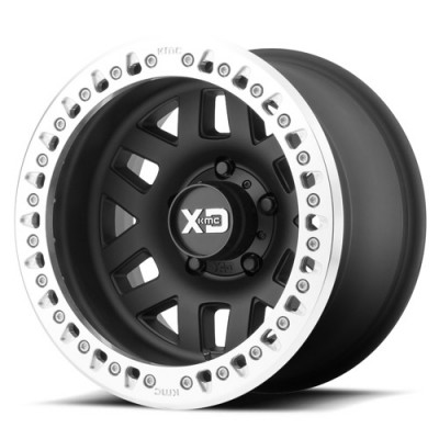 Roue XD Series by KMC Wheels XD229 MACHETE CRAWL, noir machine (17X9, 5x127, 78.30, déport -38)