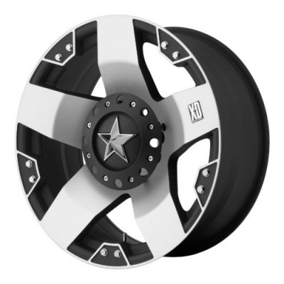 Roue XD Series by KMC Wheels XD775 ROCKSTAR, noir mat machine (17X8, 8x165.1, 130.81, déport 10)
