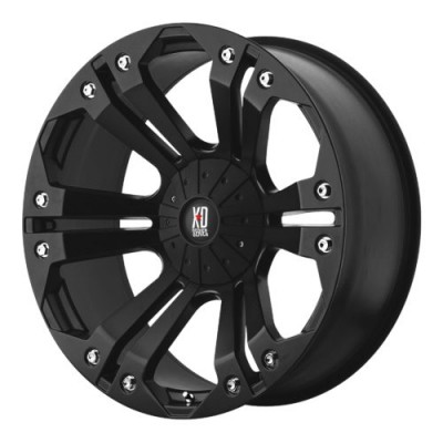 Roue XD Series by KMC Wheels XD778 MONSTER, noir mat (22X9.5, 5x139.7/150, 110.50, déport 18)