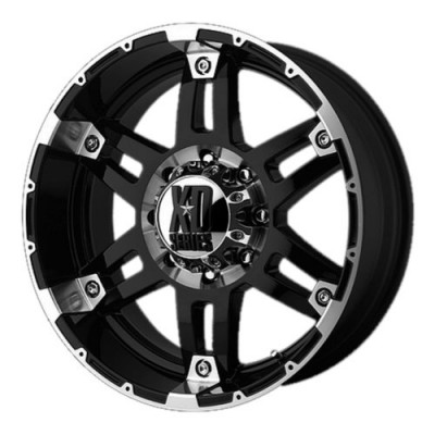 Roue XD Series by KMC Wheels XD797 SPY, noir lustre machine (20X8.5, 5x127, 78.30, déport 18)