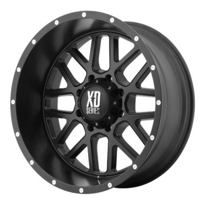 Roue XD Series by KMC Wheels XD820 GRENADE, noir satine (18X8, 5x160, 65.10, déport 38)