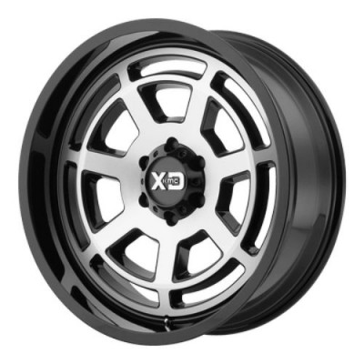 Roue XD Series by KMC Wheels XD824 BONES, noir lustre machine (20X9, 6x139.7, 106.25, déport 0)