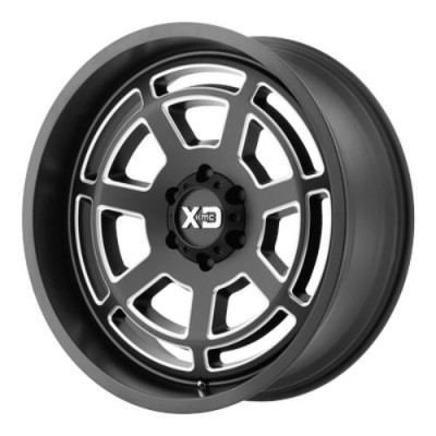 Roue XD Series by KMC Wheels XD824 BONES, noir machine (20X12, 8x165.1, 125.50, déport -44)