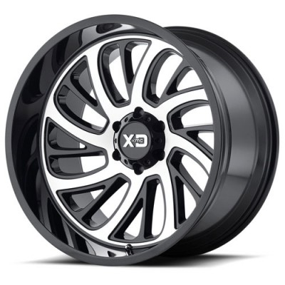 Roue XD Series by KMC Wheels XD826 SURGE, noir lustre machine (20X10, 5x127, 78.30, déport -24)