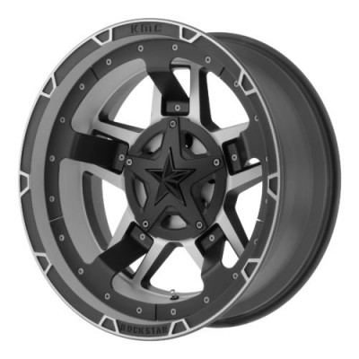 Roue XD Series by KMC Wheels XD827 ROCKSTAR III, noir mat machine (17X8, 6x120/139.7, 78.30, déport 20)