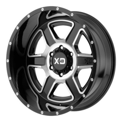Roue XD Series by KMC Wheels XD832 FUSION, noir lustre machine (20X9, 5x127, 72.60, déport 18)