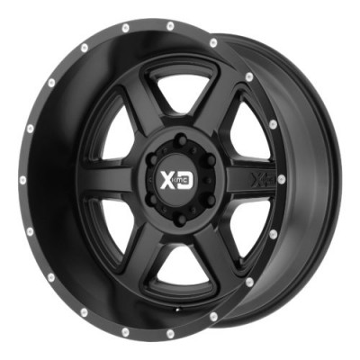 Roue XD Series by KMC Wheels XD832 FUSION, noir satine (20X12, 6x139.7, 106.25, déport -44)