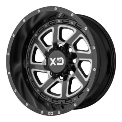 Roue XD Series by KMC Wheels XD833 RECOIL, noir machine (22X10, 8x165.1, 125.50, déport -18)