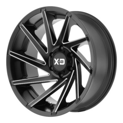 Roue XD Series by KMC Wheels XD834 CYCLONE, noir machine (22X10, 8x165.1, 125.50, déport -18)