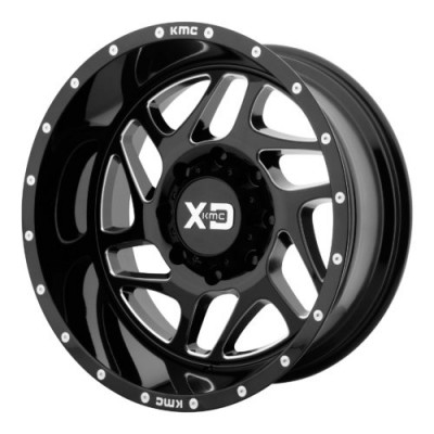 Roue XD Series by KMC Wheels XD836 FURY, noir lustre machine (20X9, 6x114.3, 66.10, déport 18)