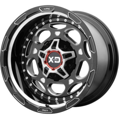 Roue XD Series by KMC Wheels XD837 DEMODOG, noir lustre machine (20X10, , 78.30, déport -18)
