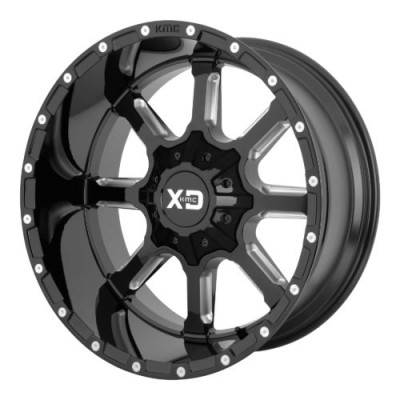 Roue XD Series by KMC Wheels XD838 MAMMOTH, noir lustre machine (20X9, 6x114.3/139.7, 93.10, déport 18)