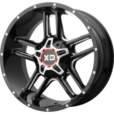 Roue XD Series by KMC Wheels XD839 CLAMP, noir lustre machine (20X9, 6x114.3/139.7, 93.10, déport 18)
