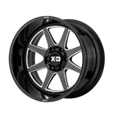 Roue XD Series by KMC Wheels XD844, noir lustre machine (20X10, 5x127, 71.5, déport -18)