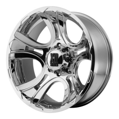 roue XD Series XD801 CRANK, chrome plaque (17X9, 5x127, 78.3, déport 0)