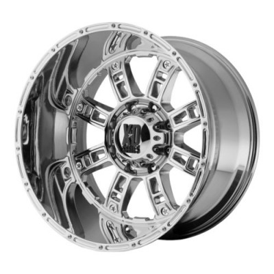 roue XD Series XD809 RIOT, chrome plaque (20X14, 8x165.1, 125.5, déport -76)