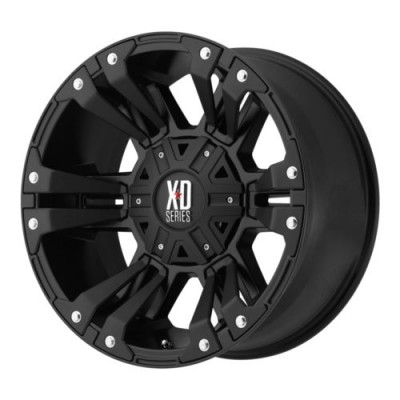 roue XD Series XD822 MONSTER II, noir mat (17X9, 8x170, 125.5, déport 18)