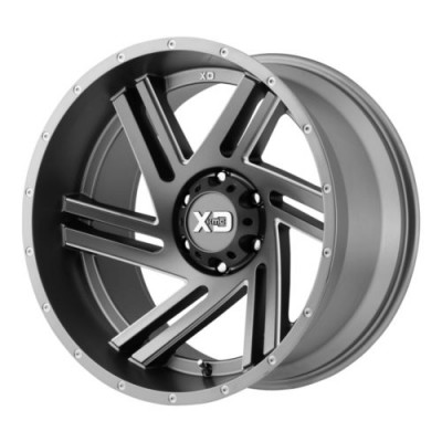 roue XD Series XD835 SWIPE, gris machine (20X9, 6x139.7, 106.25, déport 18)