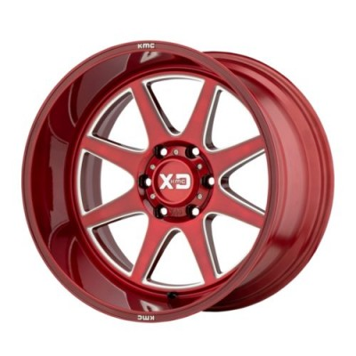 roue XD Series XD844 PIKE, rouge (20X10, 5x127, 71.5, déport -18)