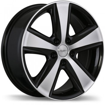 Fastwheels Blaster Gloss Black with Machined Face/Noir lustré avec façade machinée, 18x8.0, 5x114.3 (offset/deport 45), 67.1