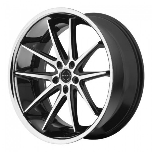 Asanti Black ABL-5, Machine Black wheel