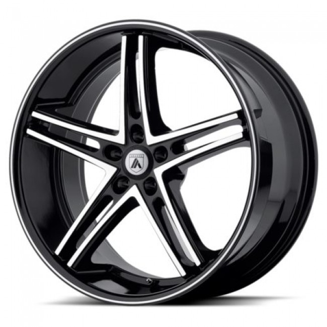 Asanti Black ABL-7, Machine Black wheel