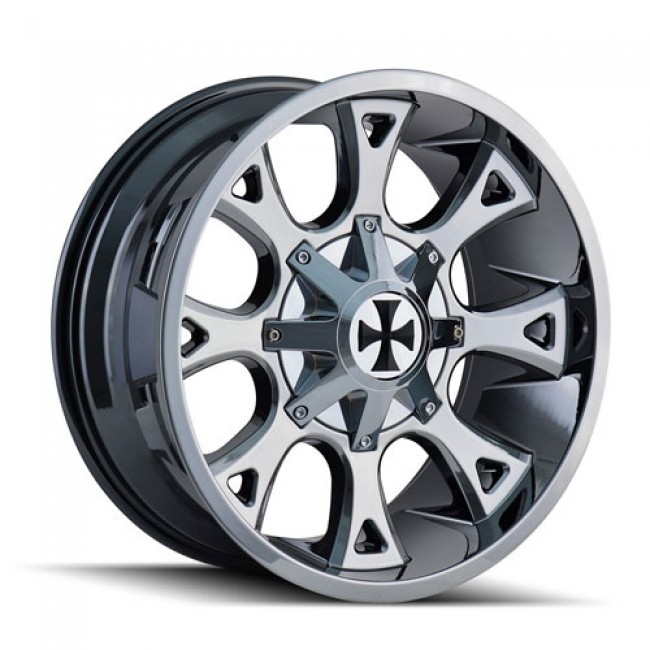 Calioffroad 9103 Anarchy PVD Chrome / Chrome Vaporise, 20X9, 8x180 ,(déport/offset 0 ) 124.1