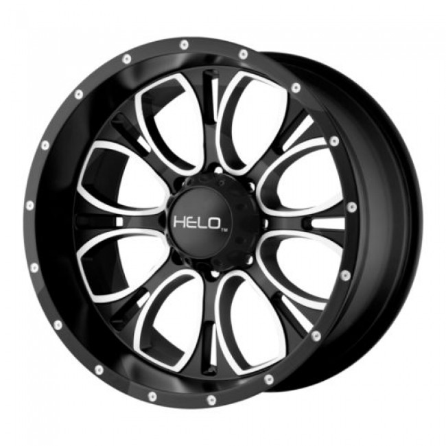 Helo HE879, Gloss Black Machine wheel