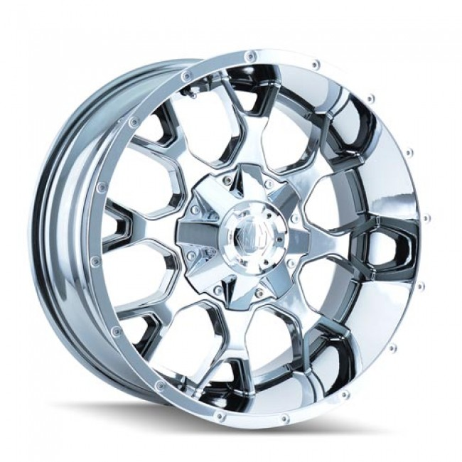 Mayhem 8015 Warrior, PVD Chrome wheel