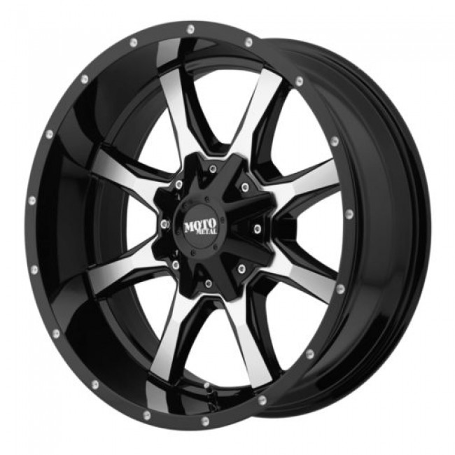 Moto Metal MO970, Gloss Black Machine wheel