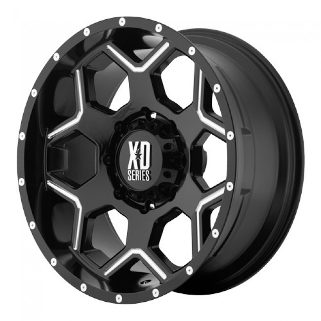 KMC Wheels Crux, Gloss Black Machine wheel
