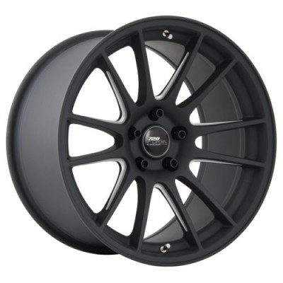 720 Form GTF2 Matt Black Machine wheel (18X9.0, 5x100, 73.1, 35 offset)