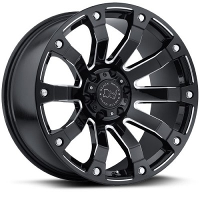 Black Rhino Selkirk Machine Black wheel (17X9, 5x139.7, 78.1, 0 offset)