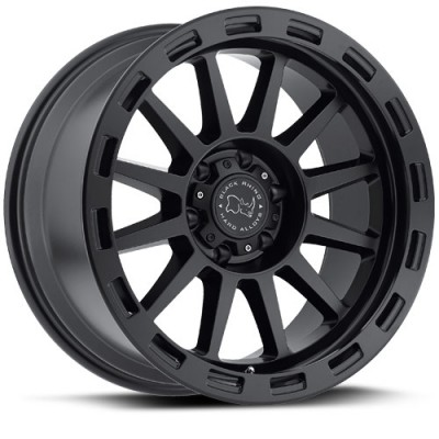 Black Rhino Revolution, Noir Mat/Black Matte, 17X9, 6x139.7 ( offset/deport 12), 112